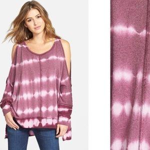 Free People 'dandyline' Cold shoulder Dye Pullover